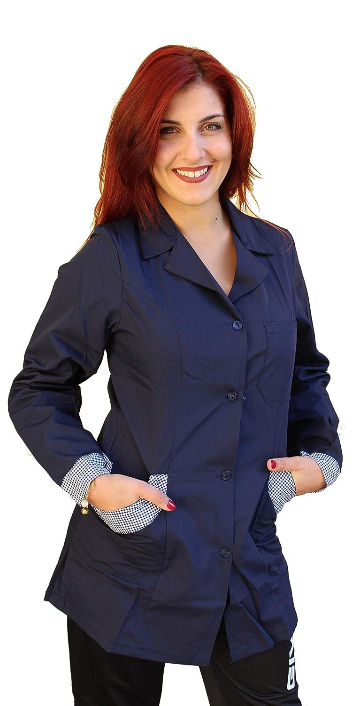 Petersabitidalavoro Camice Lavoro Divisa Donna Maestra Asilo Cassiera Supermercato Banconista Blu