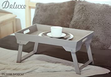 Outdoor Küche Klappbar : Bett tablett grau holz serviertablett klappbar
