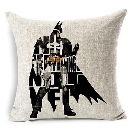SilkCrane Funda de Cojín, Geometric Abstract of Batman ...