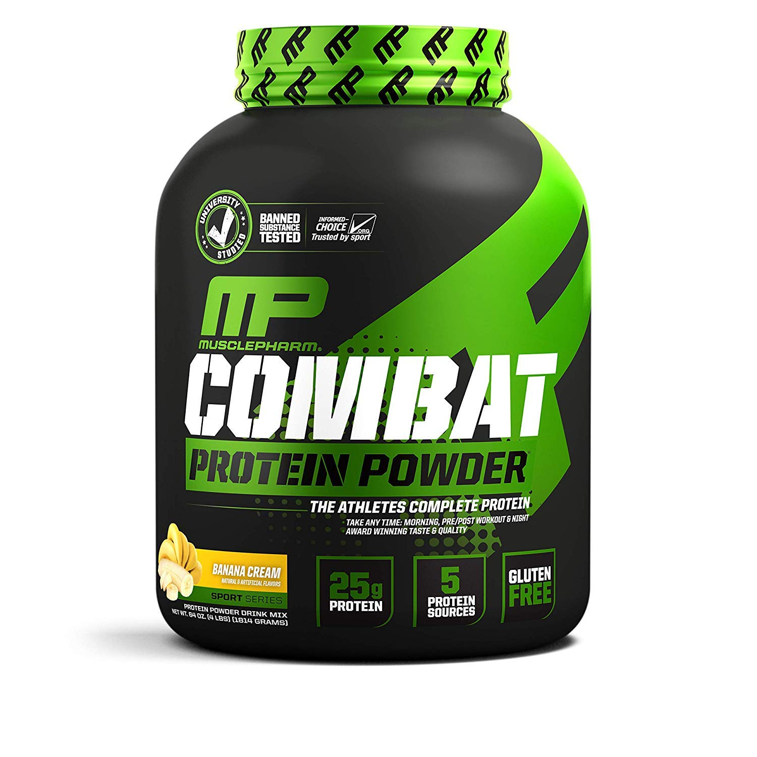 Combat Protein Powder Banana Cream, 4 Pound