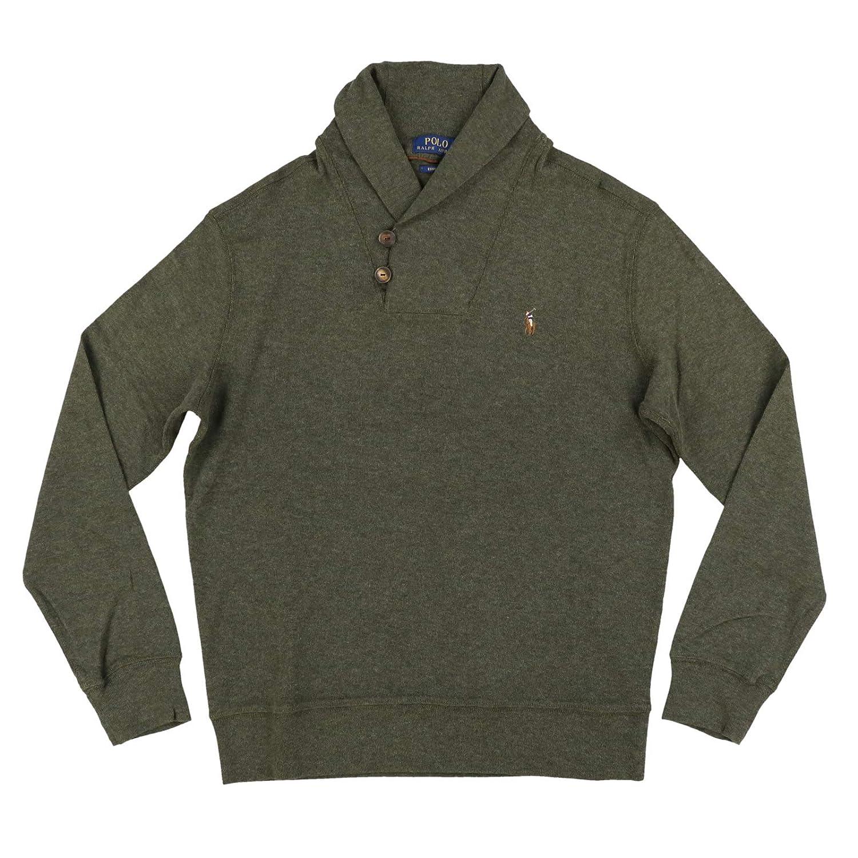 fbc10b4edd Ralph Lauren Men's Shawl Neck Estate Long Sleeve Rib Sweater at ...