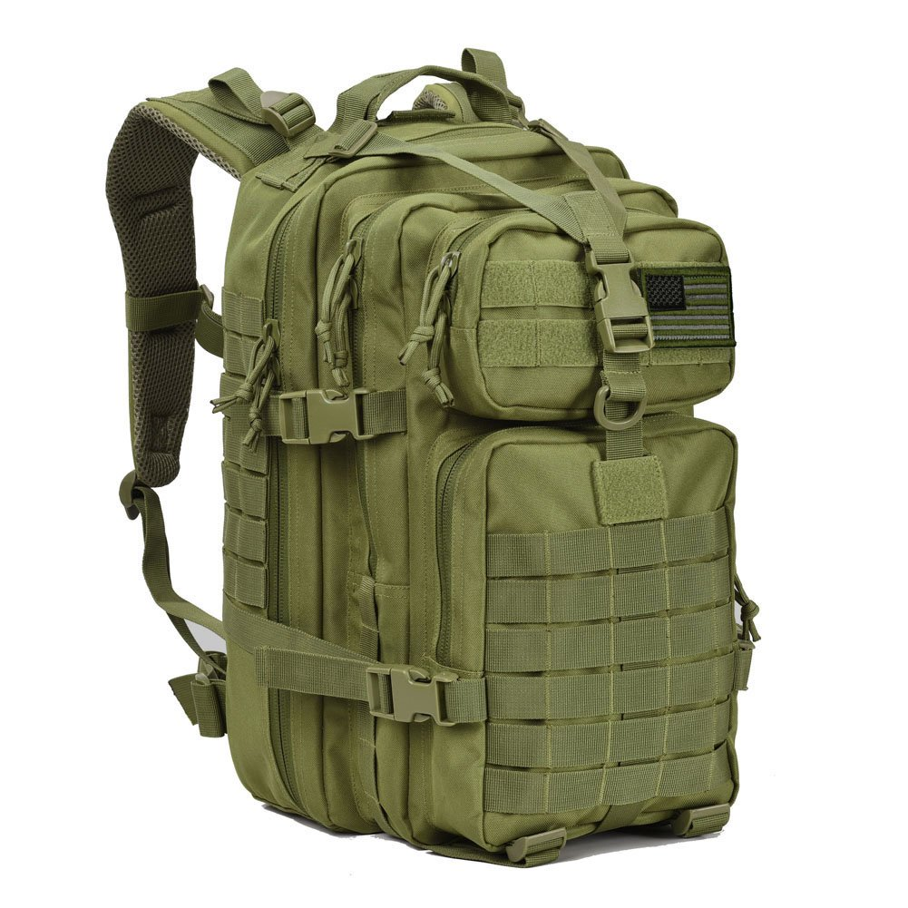 Military Tactical Assault Backpack Small 3 Day Assault Pack Army Molle Bug Bag Backpacks Rucksack Daypack for Outdoor Hiking Camping Hunting Army Green by REEBOW GEAR