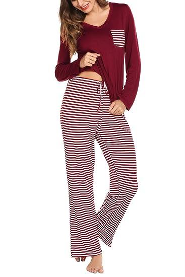 Women s Pajamas Set Loungewear Short Sleeve Soft Modal PJ Set Nightwear  Sleepwear for Summer (Small ec67bbdf6
