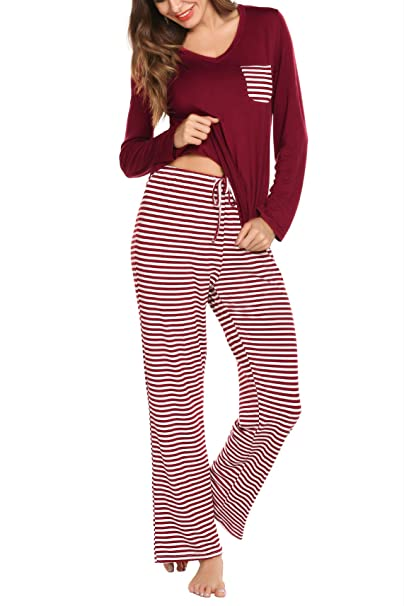 Women s Pajamas Set Loungewear Short Sleeve Soft Modal PJ Set Nightwear  Sleepwear for Summer (Small c236f04ed