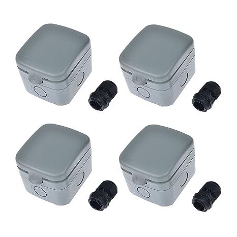 Pleasant Nineleaf 4 Pack Waterproof Junction Box Ip66 Rated Weatherproof 15A Wiring Digital Resources Almabapapkbiperorg