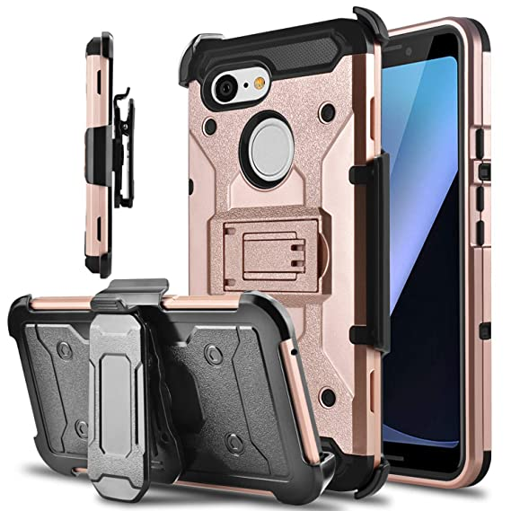 wholesale dealer 26830 0c957 Google Pixel 3 Case, lovpec Kickstand [Heavy Duty Protection] Swivel Belt  Clip Holster Full Body Armor Protective Shockproof Phone Case Cover for ...