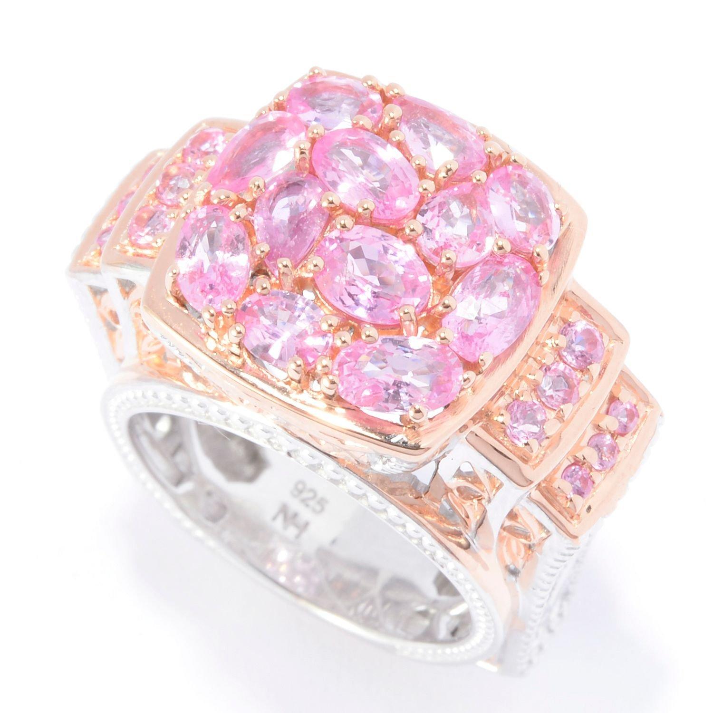 Amazon.com: Michael Valitutti Multi Shaped Thai Pink Sapphire Ring ...