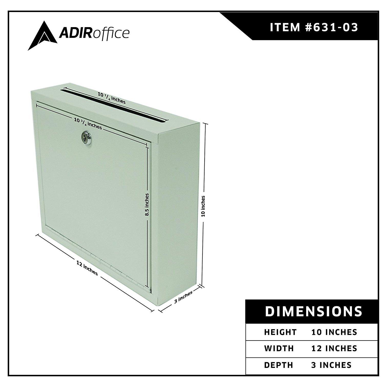Adir Corp. Multi Purpose Large Size Suggestion Box (White) by Adir Corp. (Image #5)