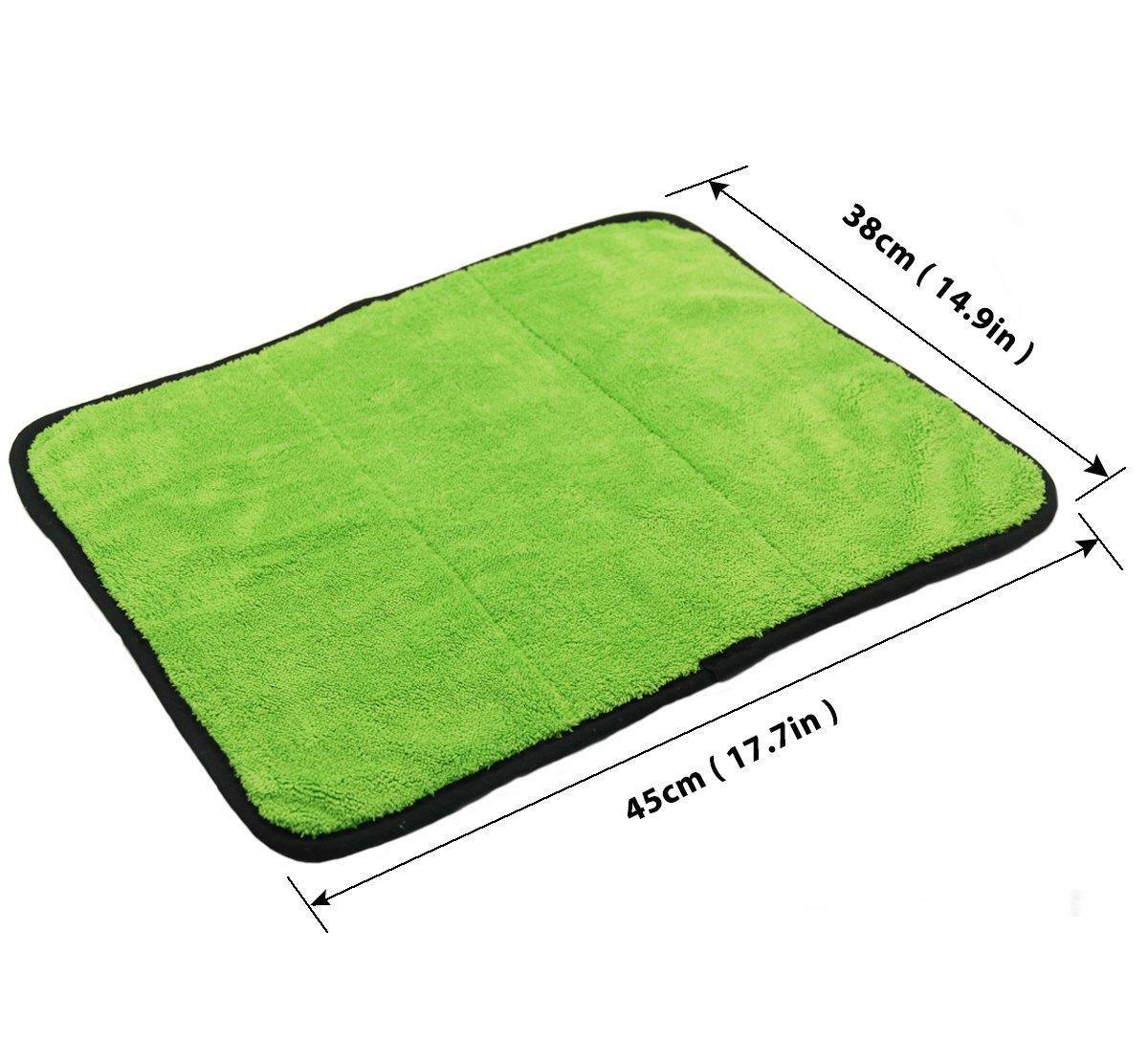 phetium 840/GSM Ultra Thick qualit/é voiture D/étail lierung Serviettes polir et chiffon de s/échage Lot de 3 38/x 45/en microfibre Lingettes de nettoyage voiture