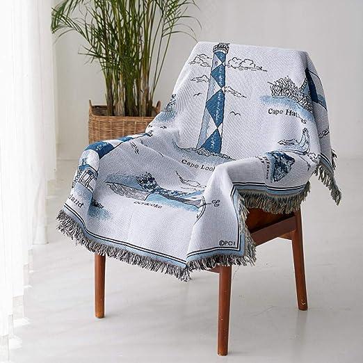 Desconocido Mantas de Tela para sofá, Guardapolvos, Toallas, Mantas de algodón para sofá, Mantas de Punto, Funda Protectora Continental-C_130 * 160 cm: Amazon.es: Hogar
