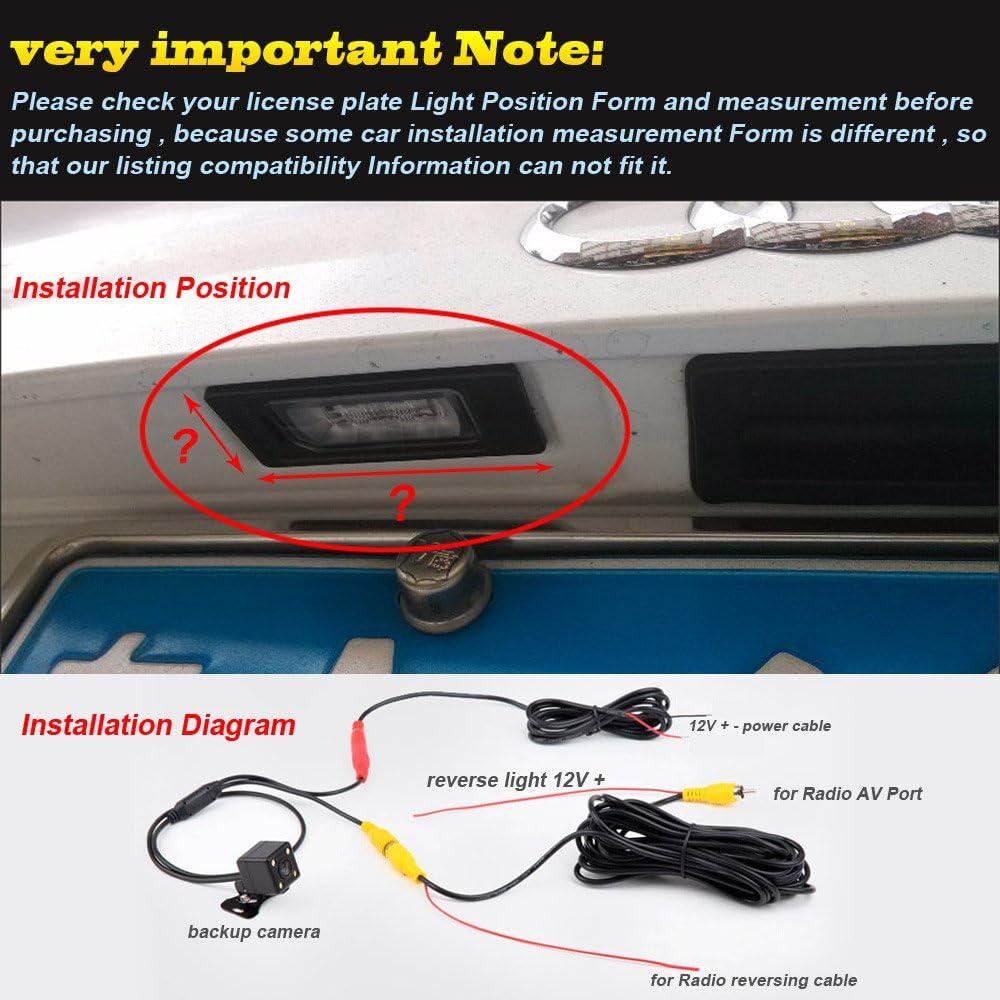 Wide Angle Hd Color Waterproof Rear View Backup Camera Amazon Co Uk Electronics