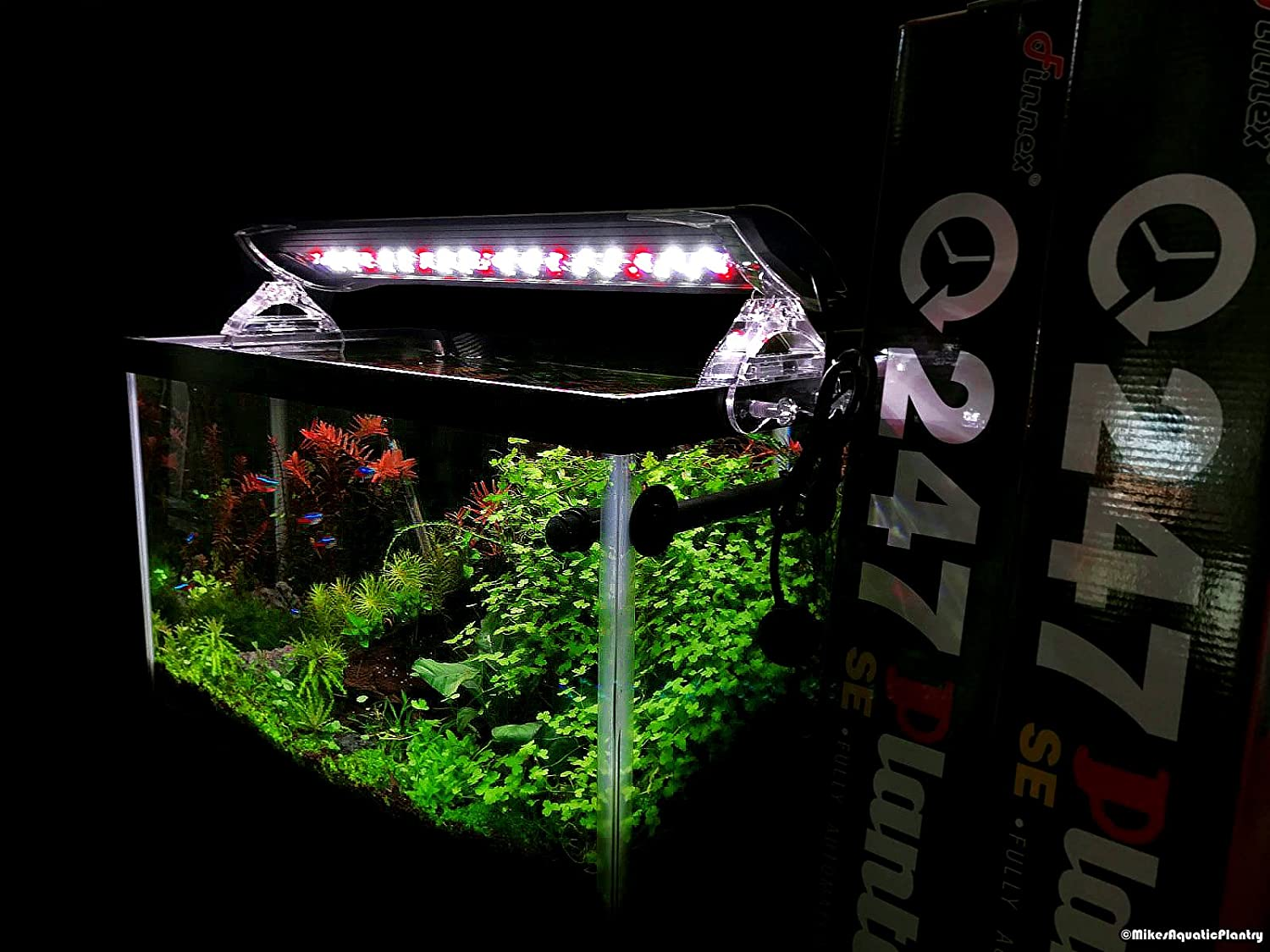 """Finnex 20/"""" Planted 24//7 SE automated LED light with 660nm red LED 16.8W"""