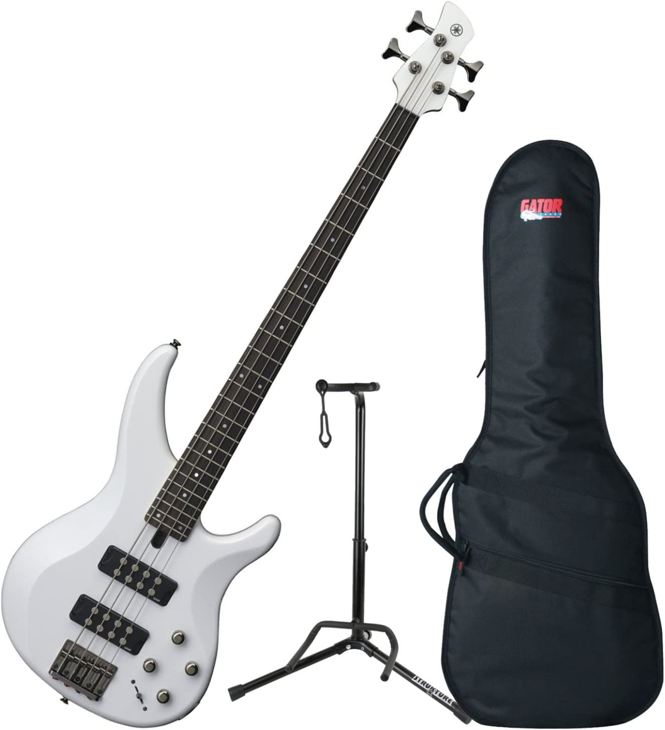 Yamaha TRBX304 WH TRBX-304 White 4 String Bass Guitar w/Gig Bag and Stand 71d6t33JFbLSL1500_