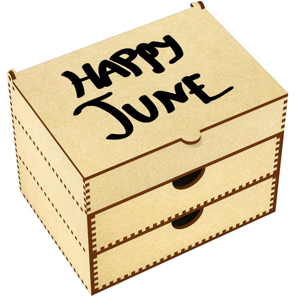 Azeeda 'Happy June' Vanity Case / Makeup Box (VC00008506)