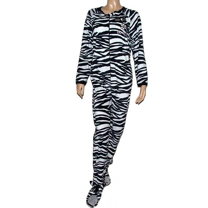 Secret Possessions Mujer Saco de dormir Mono Diseño de Cebra, color blanco y negro blanco Medium: Amazon.es: Ropa y accesorios