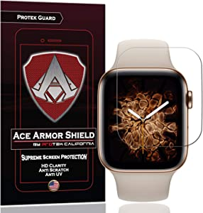Ace Armor Shield (6 Pack) Premium HD Waterproof Screen Protector compatible for the Apple Watch Series 6 40MM