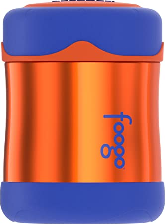 3ee0d34fd384 Thermos Foogo Vacuum Insulated Stainless Steel 10-Ounce Food Jar,  Orange/Blue