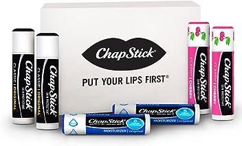 ChapStick Classic Lip Care, 6-Count, Includes ChapStick Original, ChapStick Moisturizer Original, ChapStick Classic Cherry