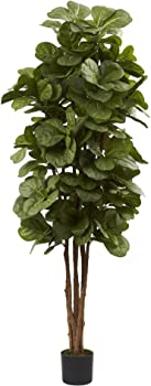 Nearly Natural 5346 Fiddle Leaf Fig 6-Feet Tree
