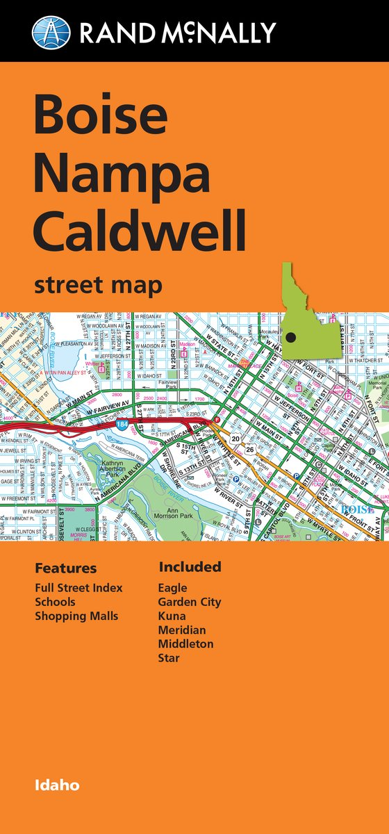 Folded Map: Boise, Nampa and Caldwell Street Map (Rand Mcnally ...