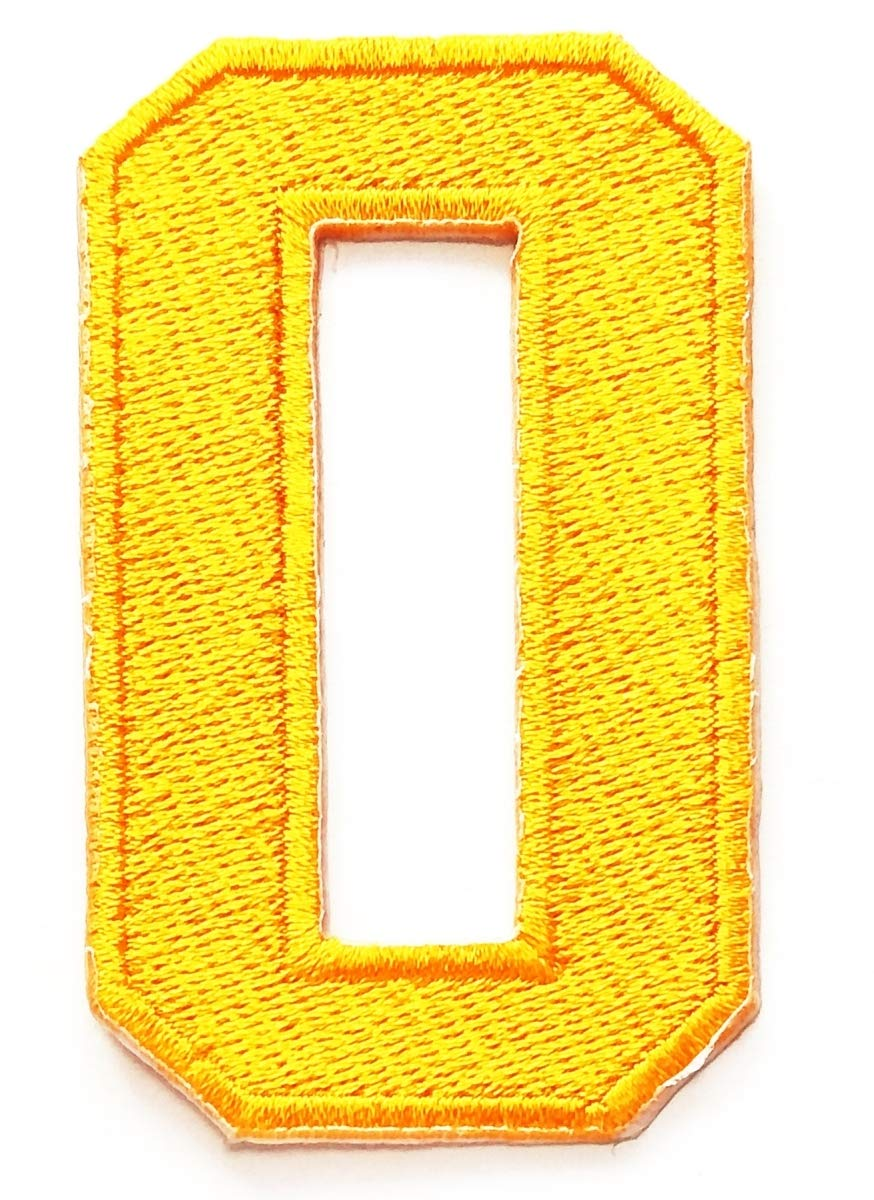 Yellow Number 8 Yellow Number 8 Patch Number Eight Counting Number 0-9 Novelty Applique Patches Sew On Patches for Clothes Jackets T-Shirt Jeans Skirt Vests Scarf Hat Backpacks