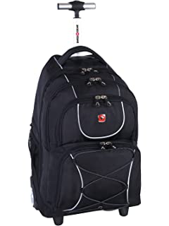 f0d4d5c516933 Swiss Gear International Carry-On size Wheeled Laptop Backpack - Holds Up  to 15.6-
