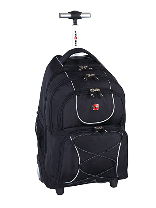 0bdd26606c52 Swiss Gear International Carry-On size Wheeled Laptop Backpack - Holds Up  to 15.6-Inch Laptop