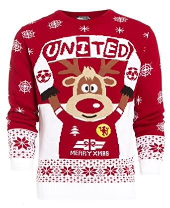 girlzwalk unisex men women xmas jumper knitted rudolf united sweater 4 22 at amazon women s clothing store