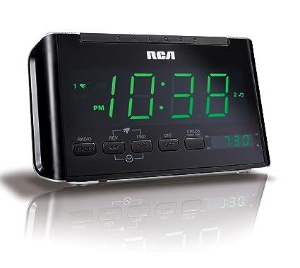 amazon com rca rc40r dual wake clock radio with large green led rh amazon com