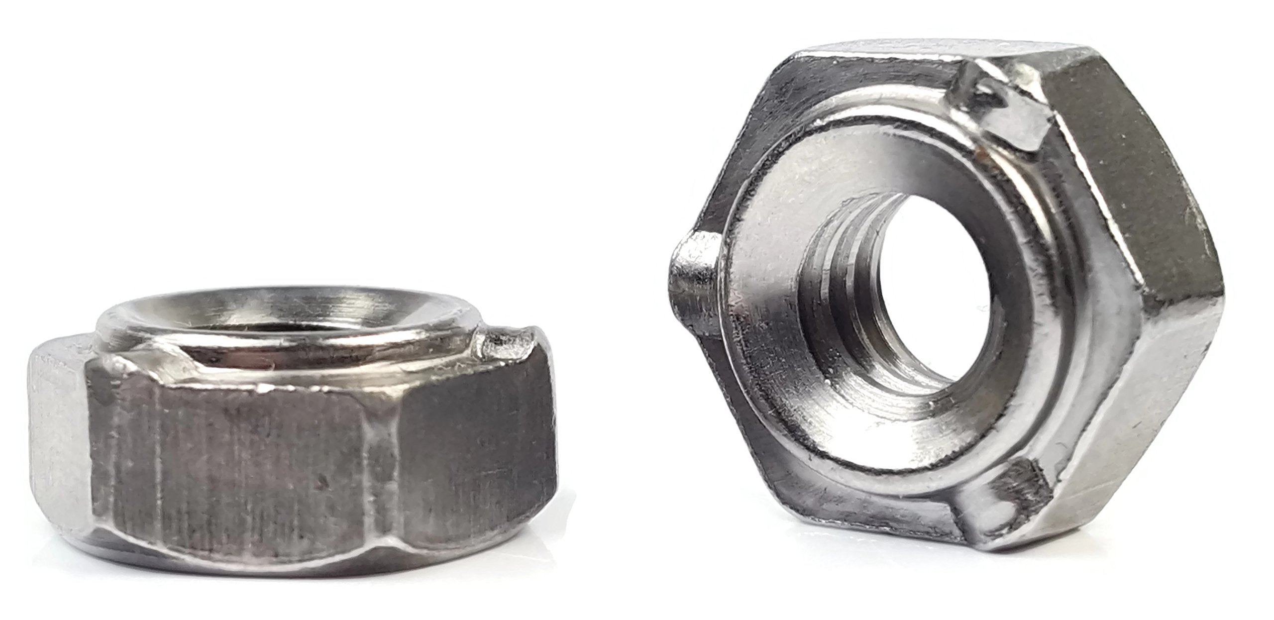 Hex Weld Nuts Steel Short Pilot 3 Projections - UNC Coarse Sizes - QTY 250 (5/16''-18)
