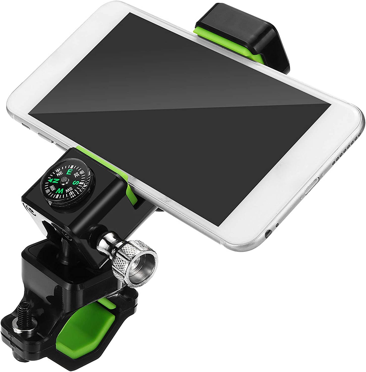 NOMSOCR Bike Phone Mount Bicycle Holder with Compass 360 Degree Rotatable Cell Phone Mount Android Smartphones 4.7-6 Bicycle Handlebar Holder for iPhone X 8//7//7Plus//6s//6Plus//5S