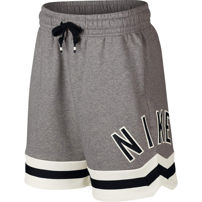 Dk gris Heather Sail noir L Nike M NSW Air FLC courte Homme