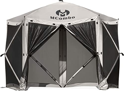 Mcombo 5-Sided Gazebo Portable Pop Up Tent Canopy