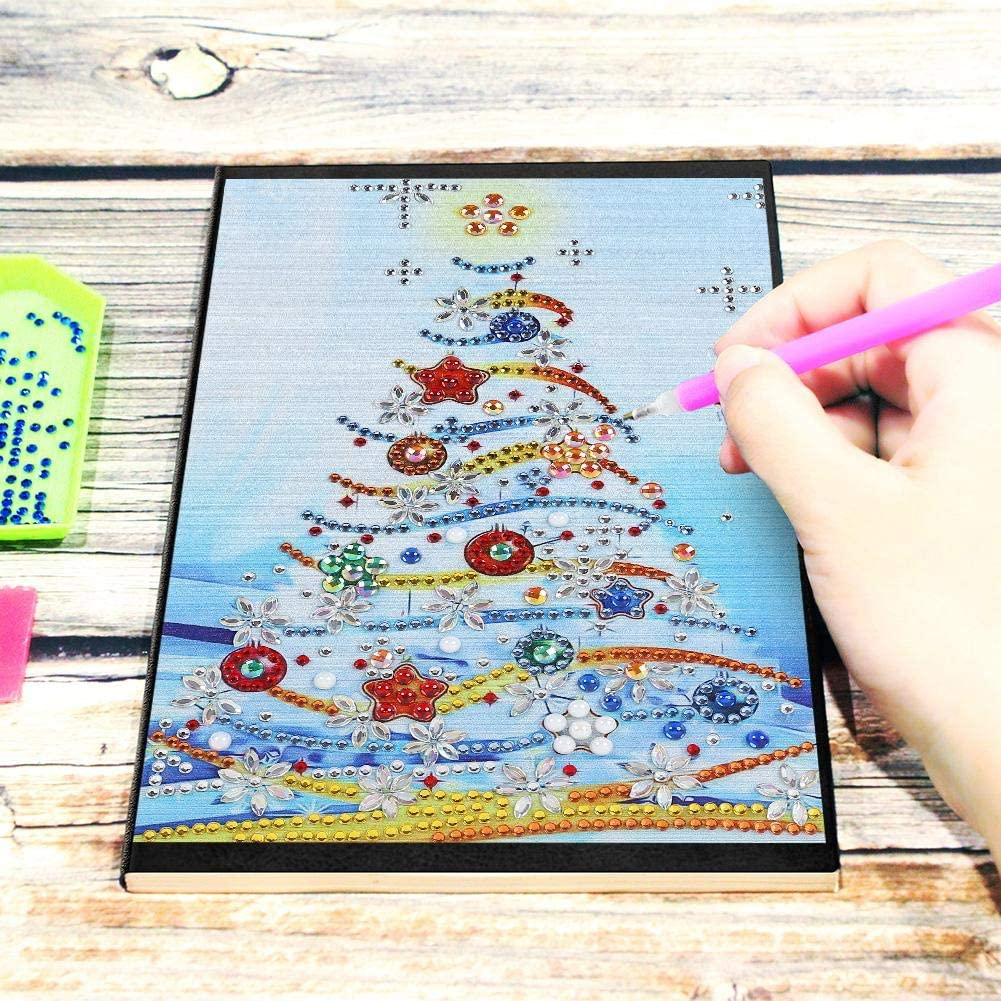 Tekijun Diamond Painting Notebook DIY Santa Claus Special Shaped 60 Pages A5 Office Notebook