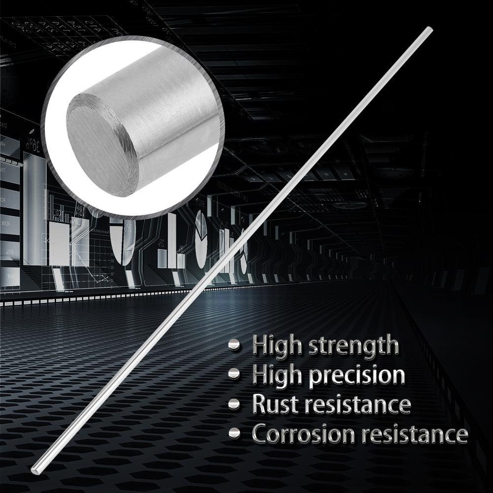 500mm Linear Shaft Straight Round Rod 6mm Diameter Model Straight Metal Round Shaft Rod Bars for DIY RC Car RC Helicopter Airplane
