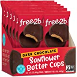 Free 2b Dark Chocolate Sun Cups Gluten-Free, Dairy-Free, Nut-Free and Soy-Free - 2-Cup Packages (Pack of 12) (24-Cups Total)