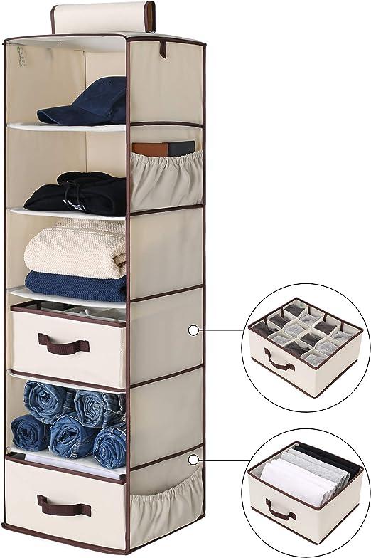 Organizer Hanging Clothes Storage Underwear Shelf Rack Closet Foldable