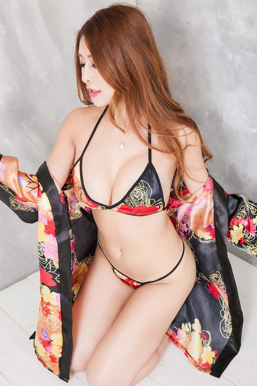 KEDCD Bondage Kimono Juego de de Bata de Juego baño de Tres Puntos 0400d6