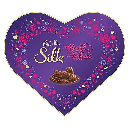 Cadbury Dairy Milk Silk Valentines Heart Shaped Gift Box 324g Amazon In Grocery Gourmet Foods