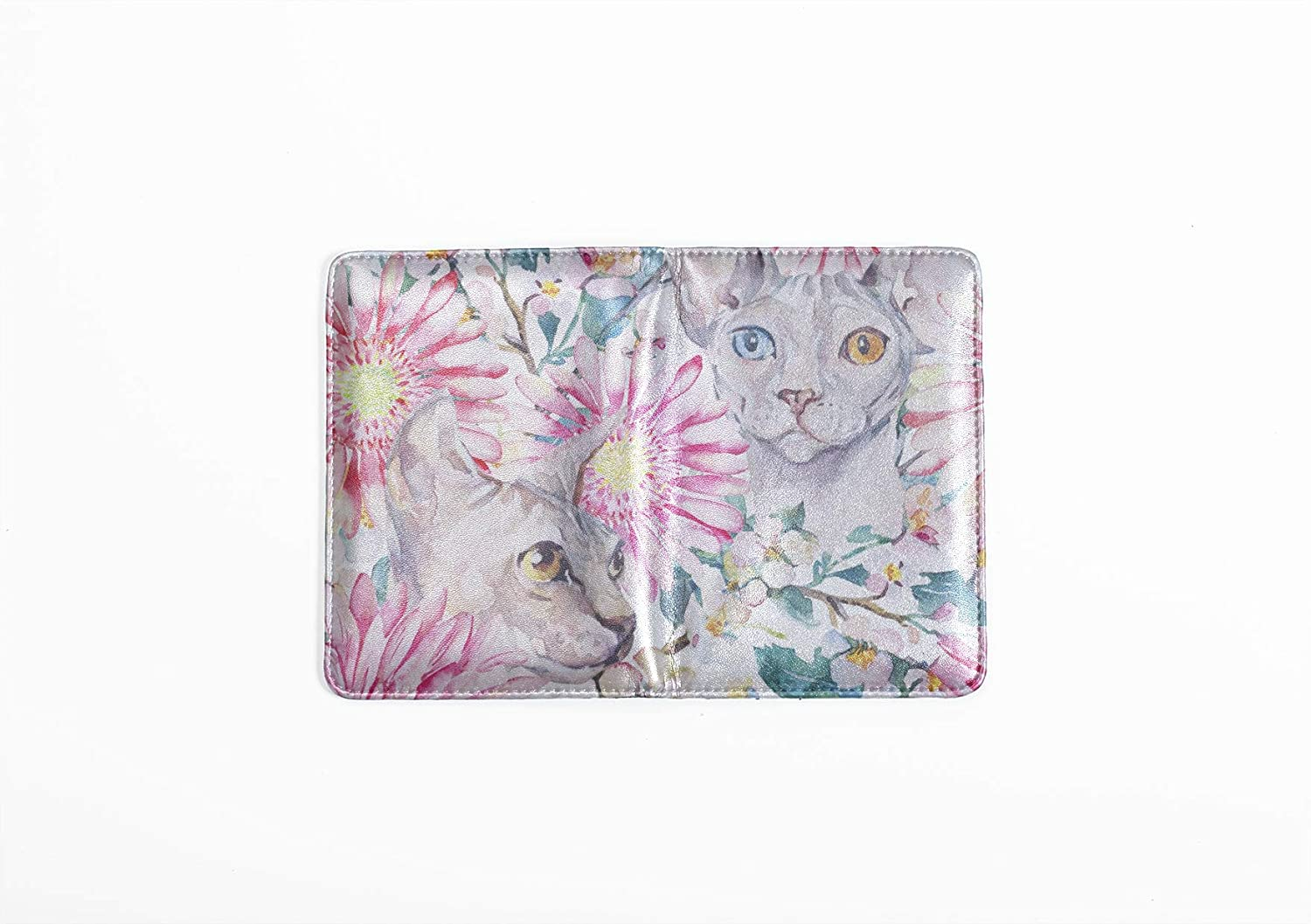 Kids Passport Cover Cute Clever Animal Cat Pet Siamese Passport Cover Girl Multi Purpose Print Passport Travel Case Travel Wallets For Unisex 5.51x4.37 Inch