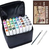 Hanqix Marker Pen Set Dibujo rotulador Animación Boceto Marcadores Set de Doble Marcador de Punta para el Artista…