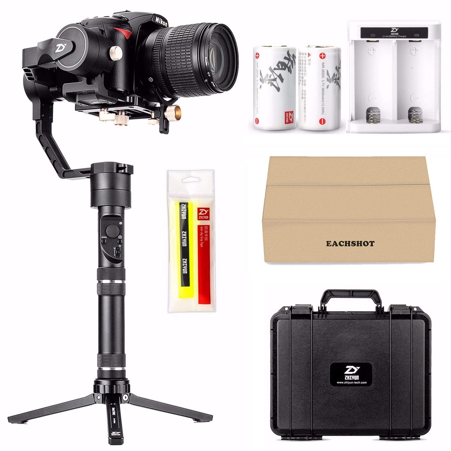 Zhiyun Crane Plus 3-Axis Handheld Gimbal Stabilizer for DSLR and Mirrorless Camera compatible Sony Panasonic LUMIX Nikon Canon POV Large Payload Timelapse Object Tracking New Version zhi yun Crane V2 by zhi yun