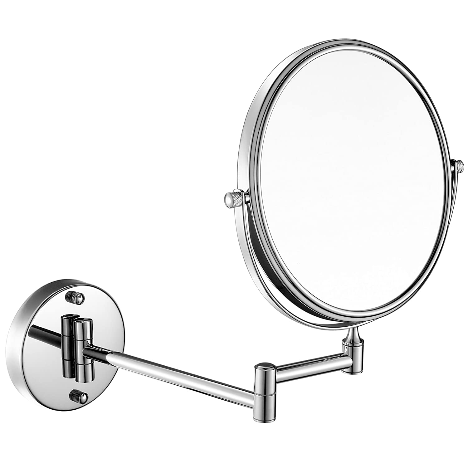 GURUN 8-Inch Two Sided Makeup Mirrors Dual Arm Wall Mount Mirror with 10x Magnification,Chrome Finish M1309 8in,10x