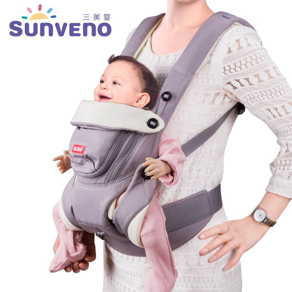 SUNVENO Ergonomic Baby Carrier Breathable Front Facing Infant Baby Sling Backpack For Baby 0-12 Months BC12736-qh