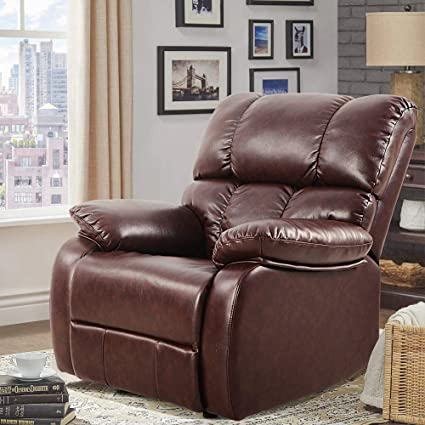 LCH Reclining Leather Sofa Chair U2013 Ergonomic Design Of Oversized Rocker  Recliner Perfectly For Living Room