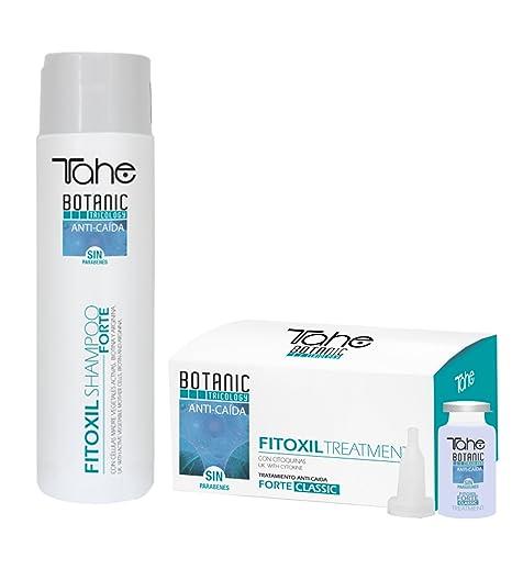 Champú Tahe Fitoxil Shampoo Forte Classic Shampoo + 5 ampollas de tratamiento