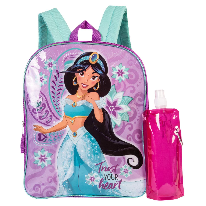 74708846708b Disney's Aladdin Backpack Combo Set - Disney Aladdin Girls' 3 Piece  Backpack Set - Jasmine Backpack, Waterbottle and Carabina (Pink/Purple)