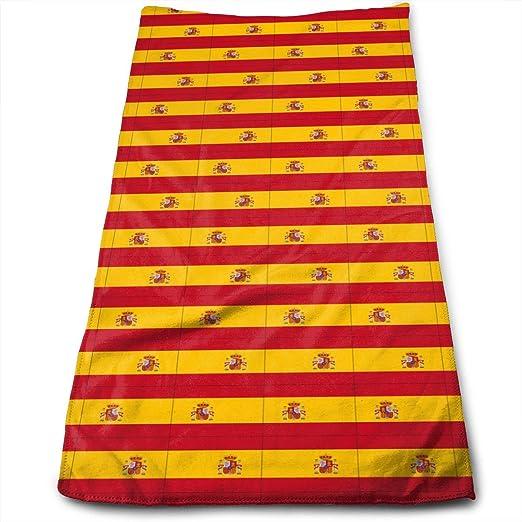 huibe Toallas de Mano Originalidad España Bandera Toallas de Cara Toallas Altamente absorbentes para Face Gym y SPA 30x70 cm: Amazon.es: Hogar