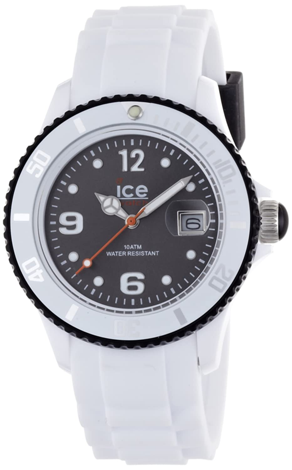 ice watch unisex armbanduhr ice white wei schwarz analog. Black Bedroom Furniture Sets. Home Design Ideas
