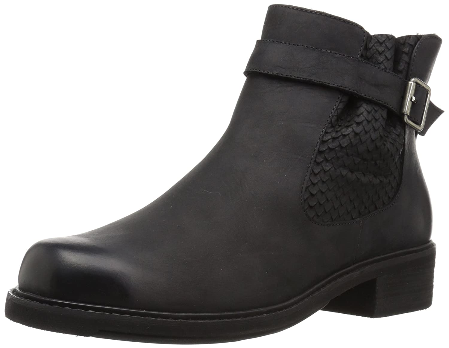 Walking Cradles Women's Devin Ankle Boot B005AZT7V8 7.5 B(M) US|Black Distressed